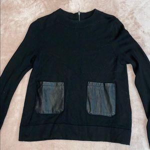 Banana republic leather pocket sweater